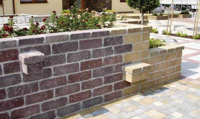 Semmelrock Castello vörös-barna kerítés fedlap