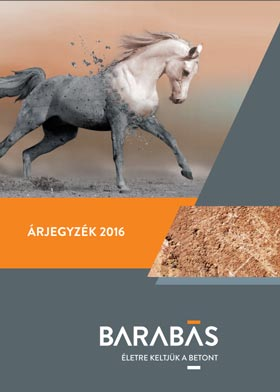 Barabás térkő árjegyzék 2016