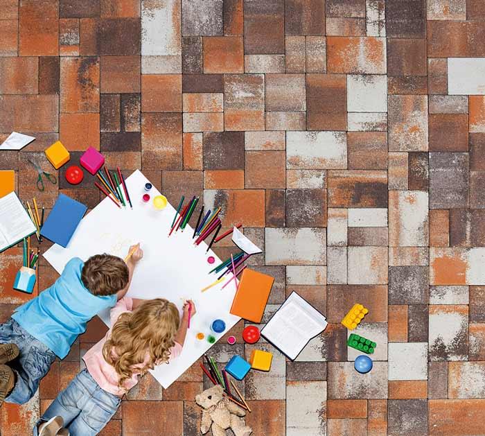 Barabás Somló Trió térkő terrakotta-barna