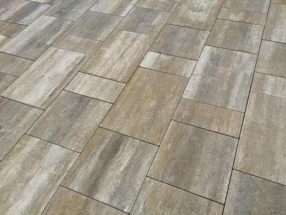 Semmelrock Citytop Grande Kombi térkő - 6 cm - grafit-terra