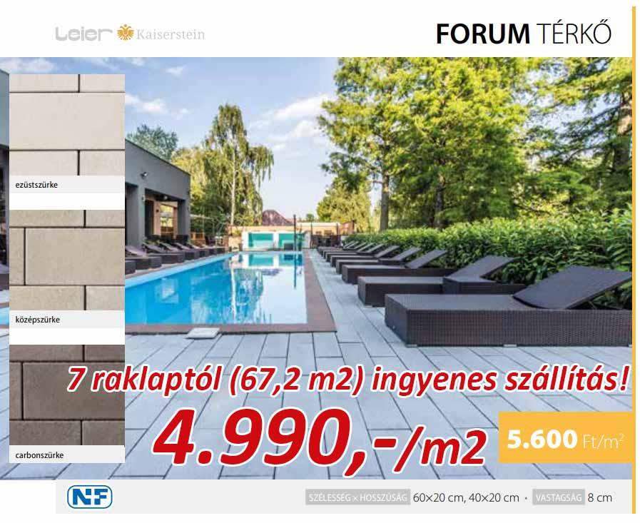 Leier Forum térkő