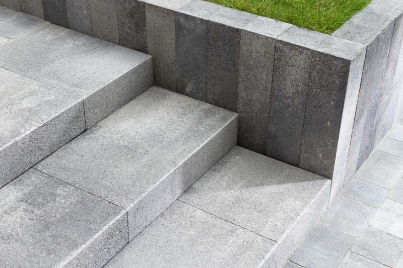 Leier Castrum lépcsőblokk füstantracit