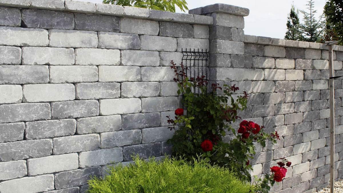 Semmelrock Castello Antico kerítés szürke-fekete