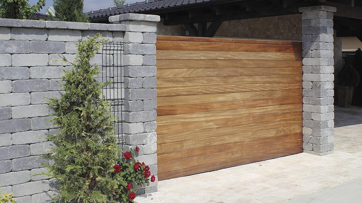 Semmelrock Castello kerítés szürke-fekete