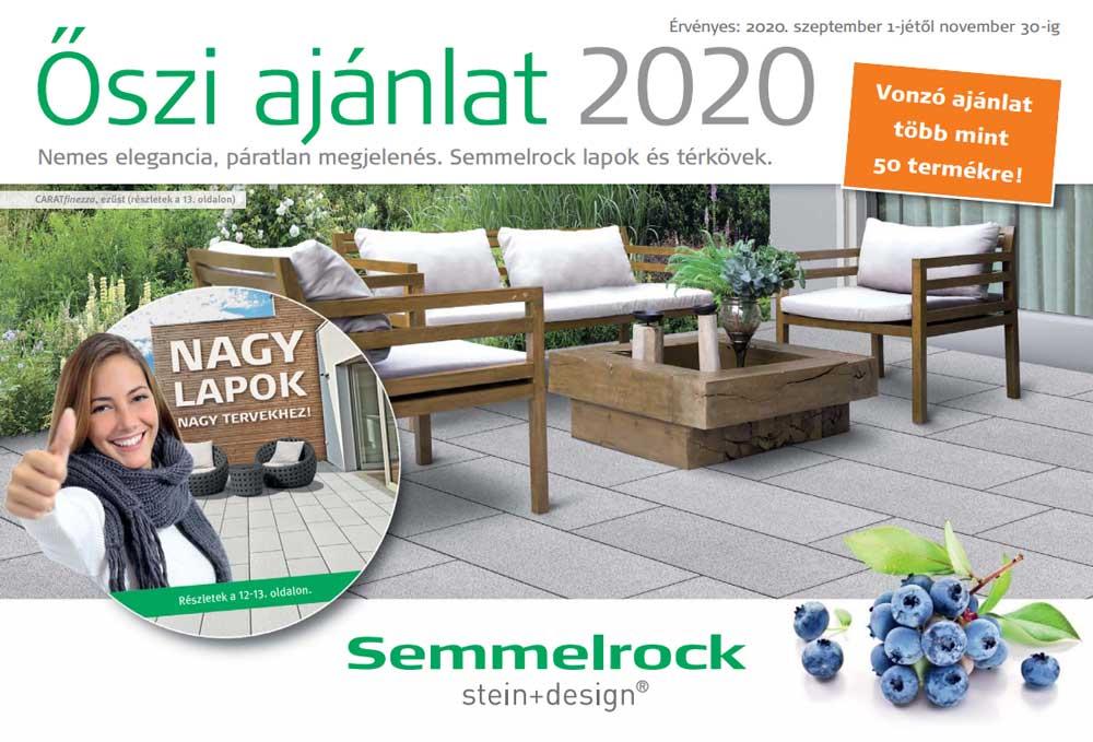 Semmelrock őszi térkő akció 2020