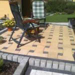Semmelrock Bradstone Woven kertilap 3,8-4,2 cm beige-kékesfekete