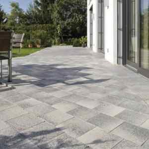 Semmelrock Umbriano térkő 25 x 25 x 8 cm gránitszürke-fehér