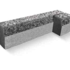 Barabás kiemelt szegély 100 x 25 x 15 cm obszidián gránitos
