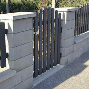 Semmelrock Rivago kerítés mokka fedlap