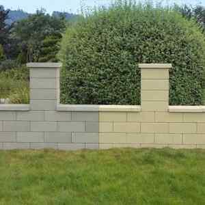 Semmelrock Rivago kerítés mokka normál kő