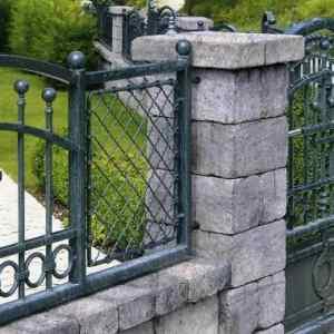 Semmelrock Castello kerítés szürke-fekete normálkő