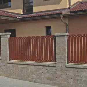 Semmelrock Castello kerítés vörös-barna normálkő